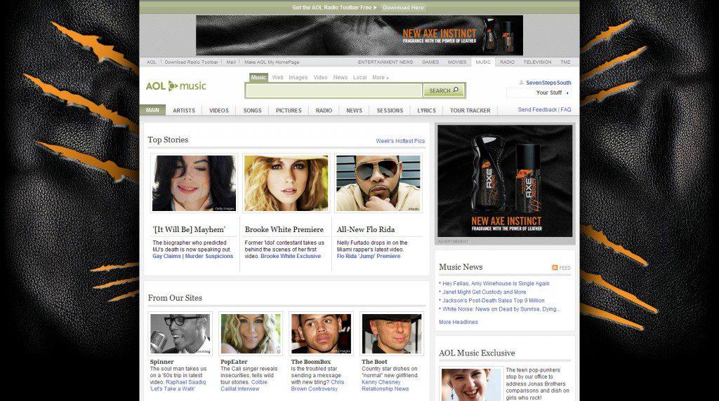Axe Instinct AOL Music Wallpaper