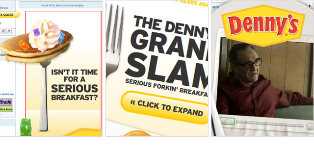 Denny's Floating Ad Concept